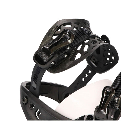 Flux | PR Snowboard Bindings | Mens | 2021 | Black / White