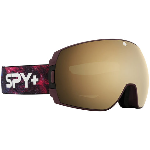 Spy | Legacy SE Goggles 2021 | Galaxy Purple l HD Plus Bronze with Gold Spectra Mirror + Spare Lens