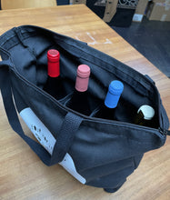 Load image into Gallery viewer, Wine Tote in Black – PANDEMIC EDITION