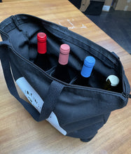 Load image into Gallery viewer, Wine Tote in Black