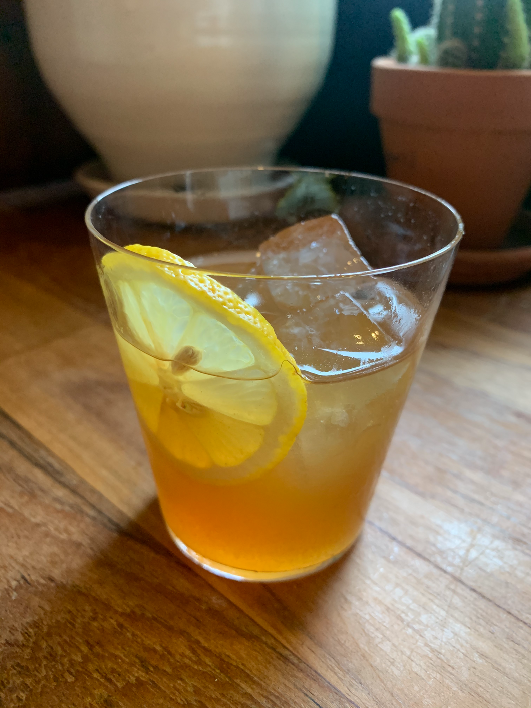 whiskey sour on ice