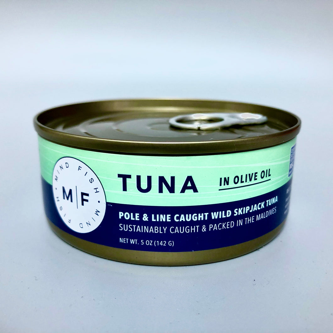 can of tuna with writing