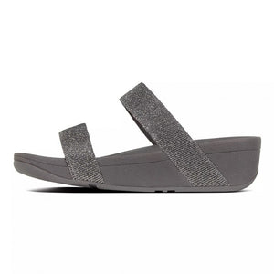Laden Sie das Bild in den Galerie-Viewer, Fitflop Lottie Glitzy Pantolette Pewter