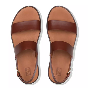 Fitflop Barra Leather Sandal Cognac