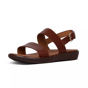 Laden Sie das Bild in den Galerie-Viewer, Fitflop Barra Leather Sandal Cognac
