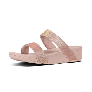 Laden Sie das Bild in den Galerie-Viewer, Fitflop Lottie Glitzy Pantolette Rosegold