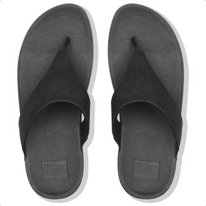 Laden Sie das Bild in den Galerie-Viewer, Fitflop Lulu Shimmer Zehensteg Black