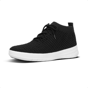 Laden Sie das Bild in den Galerie-Viewer, Fitflop Uberknit Hight-Top Slip on Sneaker Waffle Black