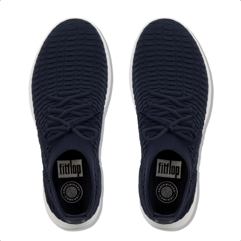 Laden Sie das Bild in den Galerie-Viewer, Fitflop Uberknit Hight-Top Slip on Sneaker Waffle Navy