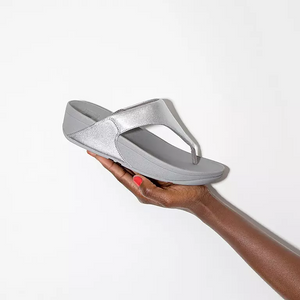 Fitflop Lulu Zehensteg Leather Silver