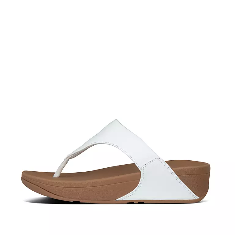 Fitflop Lulu Zehensteg Leather White