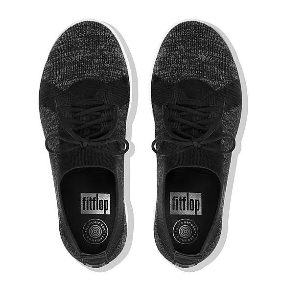 Laden Sie das Bild in den Galerie-Viewer, Fitflop F-Sporty Uberknit Black