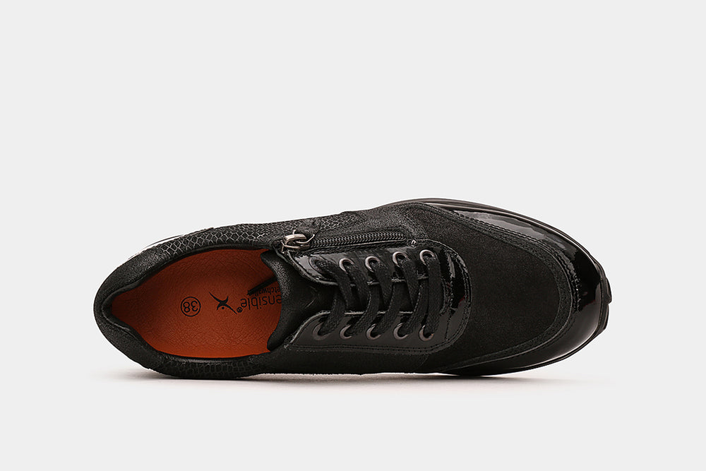 Stretchwalker Wembley Black Patent