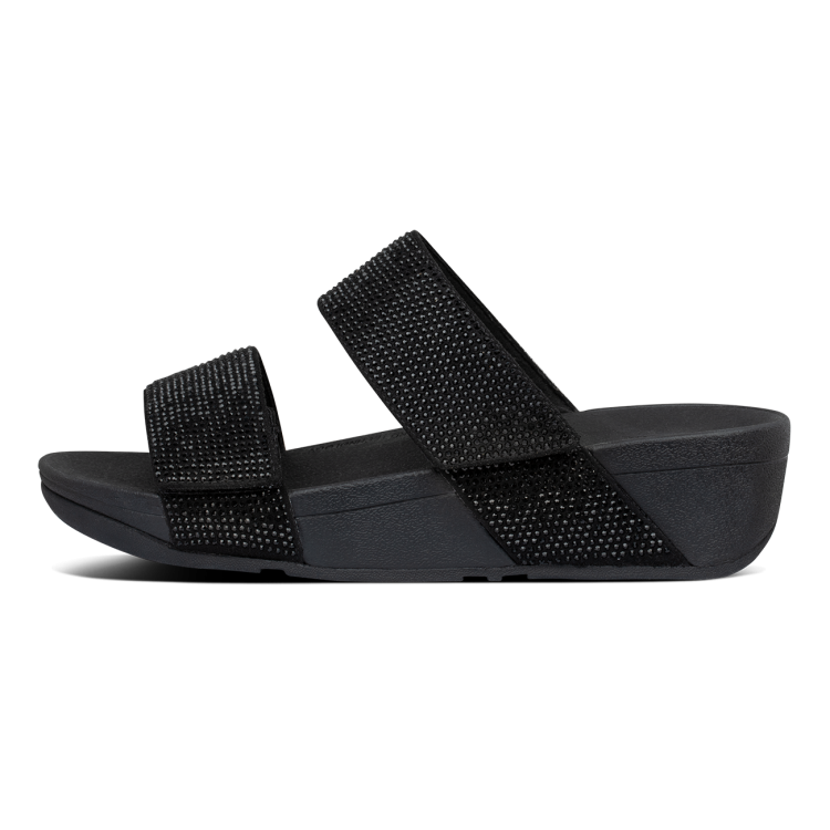 Fitflop Mina Crystal Slides Black
