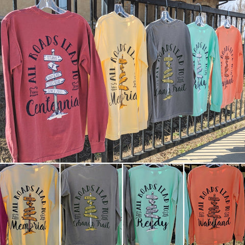All Roads Comfort Color Long Sleeve Long Sleeve Comfort Colors - Frisco Sports Center - Frisco, Texas
