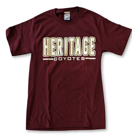 Heritage High Basic T-Shirt Coyotes CLOSEOUT Basic - Frisco Sports Center - Frisco, Texas