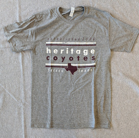 Heritage High Basic T-Shirt Modern Texas - Frisco Sports Center - Frisco, Texas