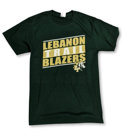 Lebanon Trail Basic T-Shirt Slanted Block Logo - Frisco Sports Center - Frisco, Texas