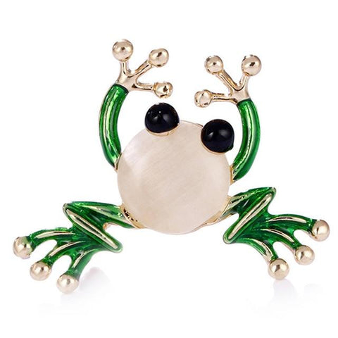broche grenouille cute