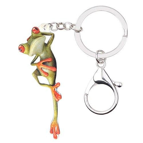 porte clef grenouille relax