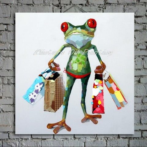 tableau-grenouille-shopping