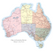 Map of Australia Sticker