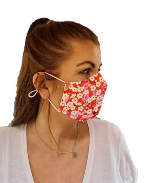 Printed 3 Layered Cotton Reusable Face Mask Covid19