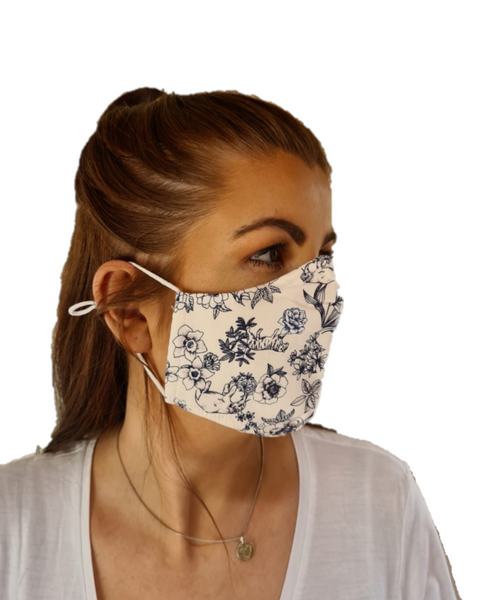 Printed 3 Layered Cotton Reusable Face Mask Irish Design