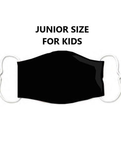 Kids plain solid colour black mask to wear in school