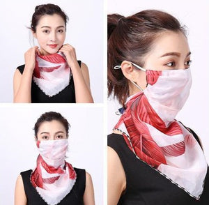 scarf with face mask soft fabric