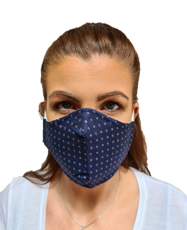 3 Layered Cotton Reusable Face Mask Uni Sex