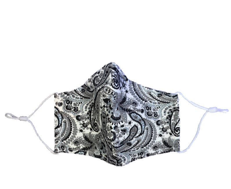 Paisley Print - 3 Layered Adjustable Washable Cotton Fashion Face Mask