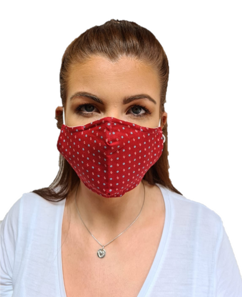 3 Layered Cotton Reusable Face Mask Irish Fashion