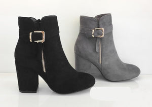 Ankle Boots With Buckle Zip Detail