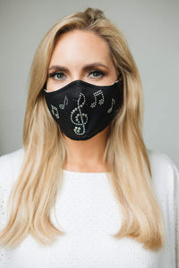Barrier mask christmas gift with musical notes