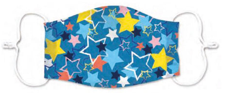 Kids Star Print 3 Layered Adjustable Washable Cotton Fashion Face Mask