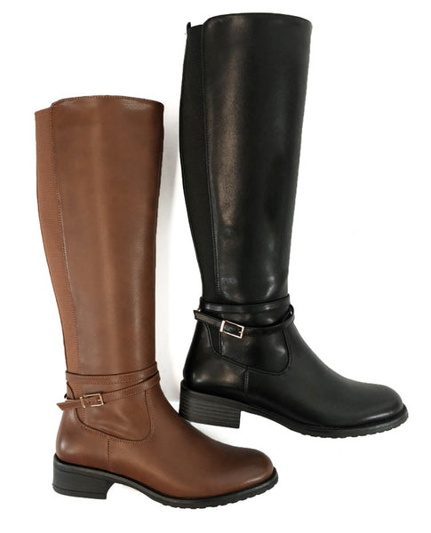 Womens Knee High Boots - Camel