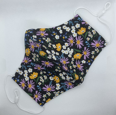 multi colour floral print face mask