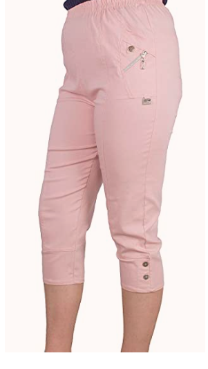 baby pink cotton cropped trousers