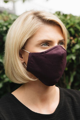 plain plum cotton face mask jessica graaf winter collection