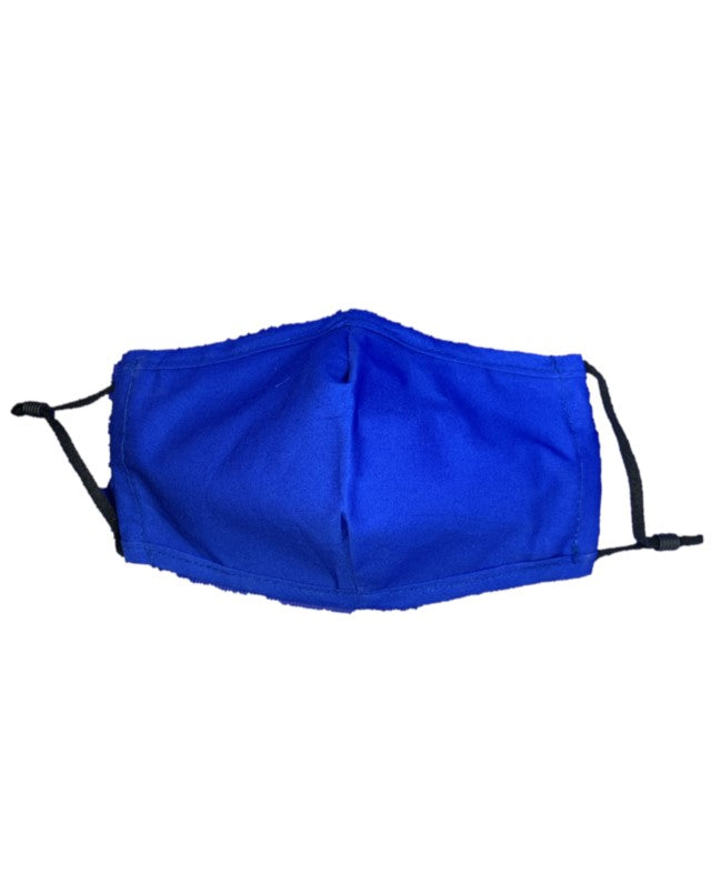 Plain Royal Blue - Teens - 3 Layered Cotton Face Mask