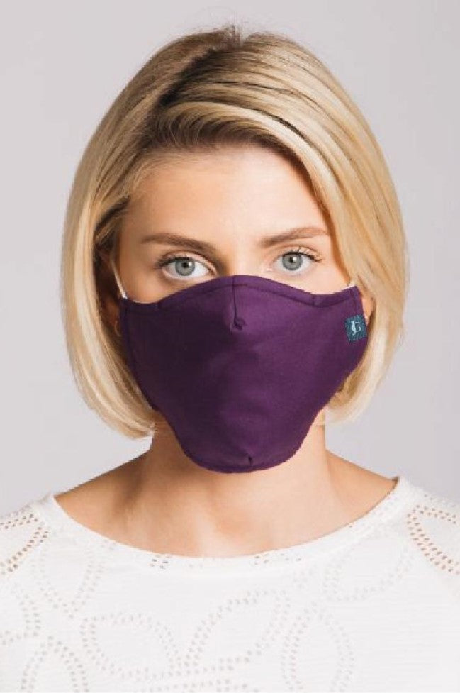 Plain Purple - 3 Layered Cotton Face Mask
