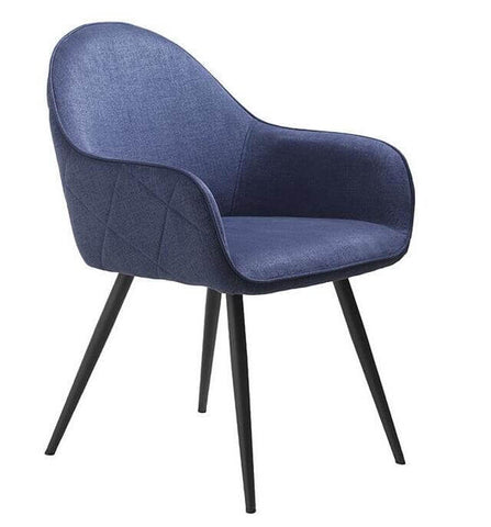 Ainslie   Blue Metal Dining Chair with Arms