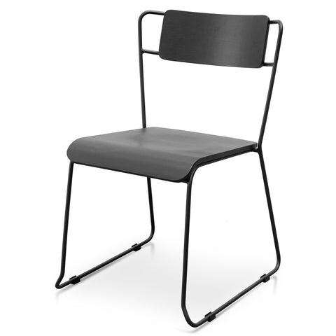 Black Contemporary Dining Chair