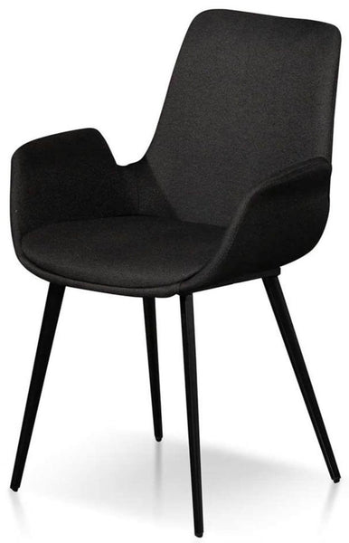 Collins Black Dining Chair With Arms