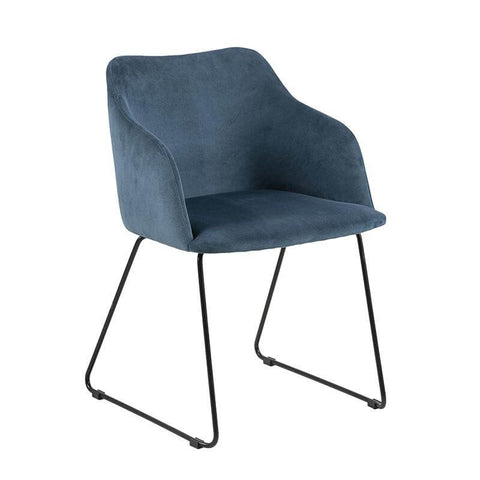 Blue Contemporary Upholstered Dining Chair