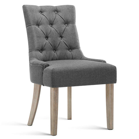 Grey French Provincial Dining Chair