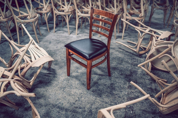 Leather Wooden Dining Chairs