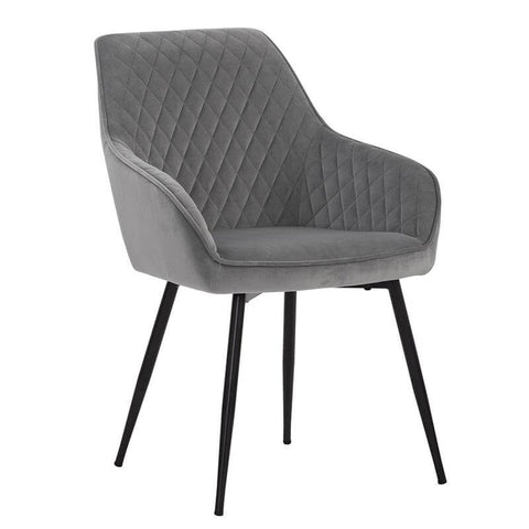 Grey Upholstered Modern Dining Chair