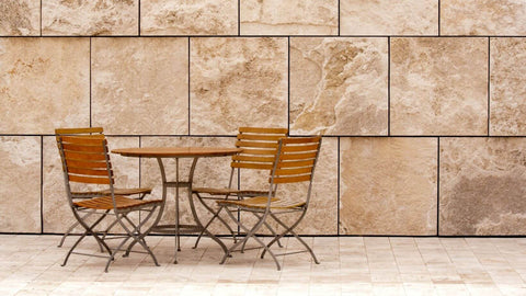 Outdoor Dining Chairs in Courtyard